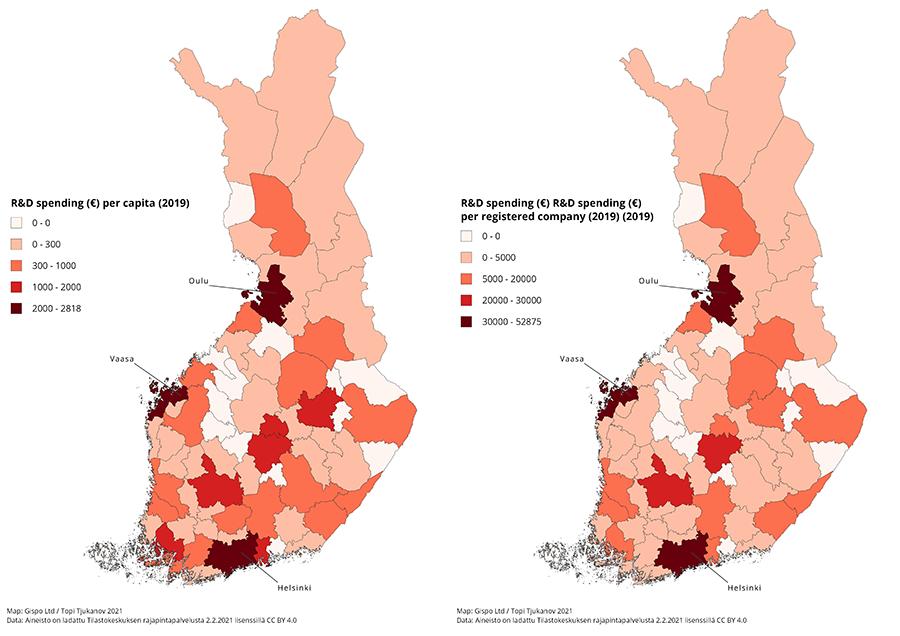 RD spending in Finland